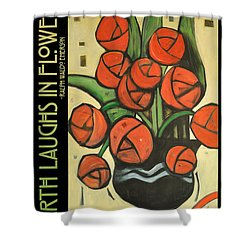 Roses In Vase Poster Shower Curtain by Tim Nyberg
