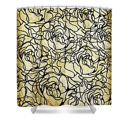Roses Pattern Shower Curtain by Setsiri Silapasuwanchai