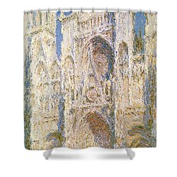 Rouen Cathedral Shower Curtain by Claude Monet