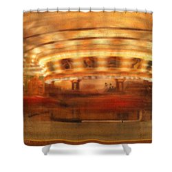 Round And Round Goes The Dentzel Carousel At Glen Echo Park Md Shower Curtain