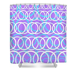 Round Cirlces Shower Curtain by Louisa Knight