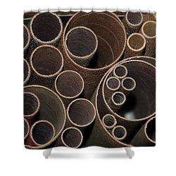 Round Sandpaper Shower Curtain