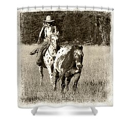 Round-up Shower Curtain by Jerry Fornarotto