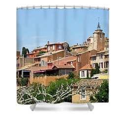 Shower Curtain featuring the photograph Roussillon In Provence by Carla Parris