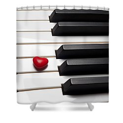 Row Of Piano Keys Shower Curtain by Garry Gay
