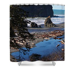 Ruby Beach IIi Shower Curtain