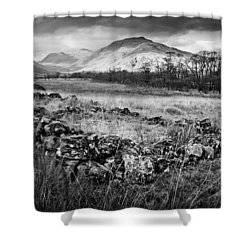 Ruined Bothy Shower Curtain by Gary Eason
