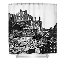 Ruins Shower Curtain by Photo Researchers