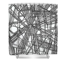 Run Shower Curtain by Douglas Christian Larsen