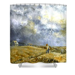 Running Home Shower Curtain by Marie Green