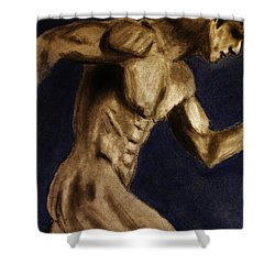 Running Man Shower Curtain