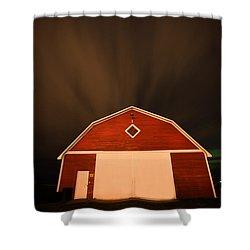 Rural Barn Night Photograhy Shower Curtain by Mark Duffy