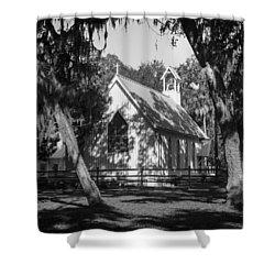 Rural Congregation Shower Curtain by Lynn Palmer