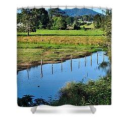 Rural Landscape After Rain Shower Curtain by Kaye Menner