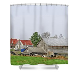 Rural Vermont Farm Scene Shower Curtain by Deborah Benoit