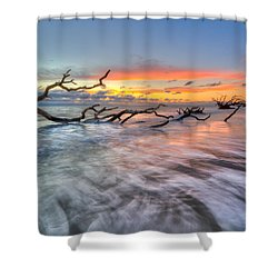 Rush Shower Curtain by Debra and Dave Vanderlaan