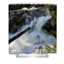 Rushing Falls Shower Curtain by Sarah Lamoureux