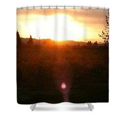 Russian River Sunrise Shower Curtain