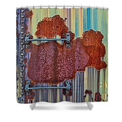 Rusted Art Shower Curtain by Susan Candelario