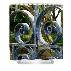 Rusted Charleston Ironwork Shower Curtain