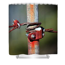 Rusted Fence Post 2 Shower Curtain