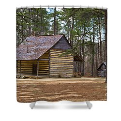 Rustic Living Shower Curtain