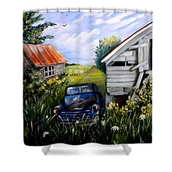 Rustic Partners Shower Curtain