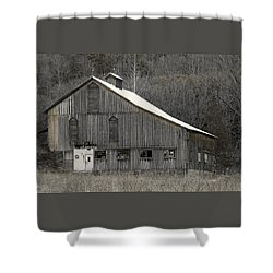Rustic Weathered Mountainside Cupola Barn Shower Curtain by John Stephens