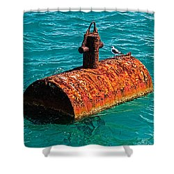 Rusty Bobber Shower Curtain by Christopher Holmes