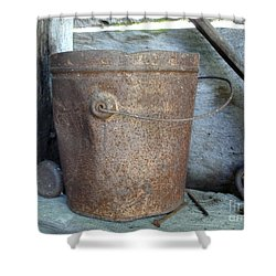 Rusty Bucket Shower Curtain by Kerri Mortenson