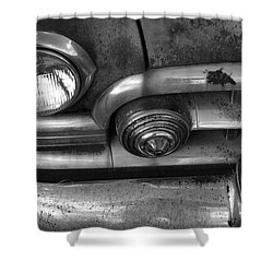 Rusty Cadillac Detail Shower Curtain by Lyle Hatch