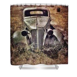 Rusty Car  Shower Curtain by Jill Battaglia