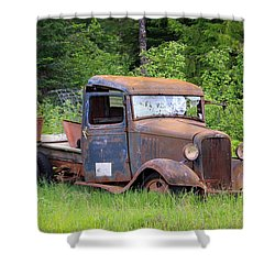 Shower Curtain featuring the photograph Rusty Chevy by Steve McKinzie