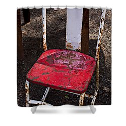 Rusty Metal Chair Shower Curtain by Garry Gay