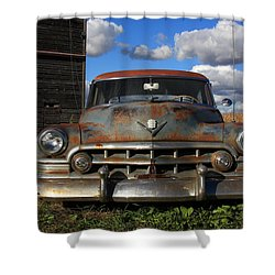 Rusty Old Cadillac Shower Curtain by Lyle Hatch