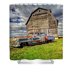 Rusty Old Cadillac Shower Curtain
