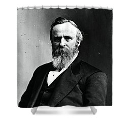 Rutherford B. Hayes, 19th American Shower Curtain by Photo Researchers