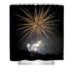 Shower Curtain featuring the photograph Rvr Fireworks 1 by Mark Dodd