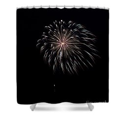Shower Curtain featuring the photograph Rvr Fireworks 10 by Mark Dodd