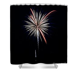 Shower Curtain featuring the photograph Rvr Fireworks 11 by Mark Dodd