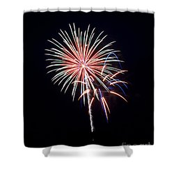 Shower Curtain featuring the photograph Rvr Fireworks 16 by Mark Dodd