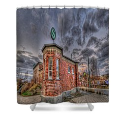 S Bahn Eck Shower Curtain by Nathan Wright