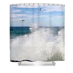 S P L A S H Shower Curtain by Kaye Menner