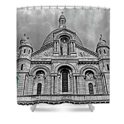 Shower Curtain featuring the photograph Sacre Coeur Montmartre Paris by Dave Mills
