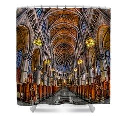 Sacred Heart Basilica Shower Curtain by Susan Candelario