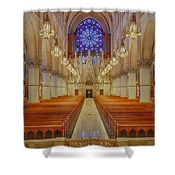 Sacred Heart Cathedral Basilica Shower Curtain by Susan Candelario