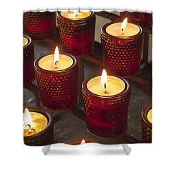 Sacrificial Candles Shower Curtain by Heiko Koehrer-Wagner