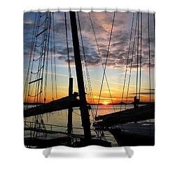 Sail At Sunset Shower Curtain