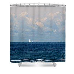 Sailboat On Lake Ontario Shower Curtain by Rose Santuci-Sofranko