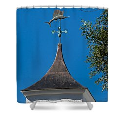 Sailfish Weather Vane At Palm Beach Shores Shower Curtain